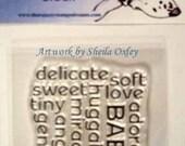 Baby Words Block set
