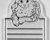 Franie's Cat Journal Block clear rubber stamp
