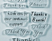 Bella's Little Thank Yous clear art stamps Thanks thanks a bunch