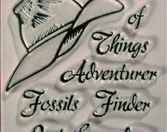 Adventure Series Adventurer's Fedora clear stamps