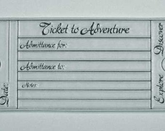 Adventure Series A Ticket to Adventure clear stamps