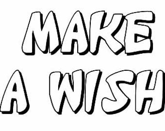Make a Wish clear stamp