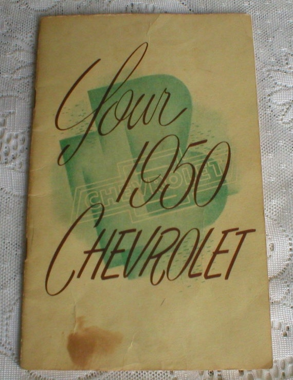 Chevrolet Owners Manual 1950 Chevy Car Auto Vintage