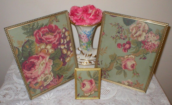 Beautiful Vintage Picture Frames Metal Shabby Cottage Chic