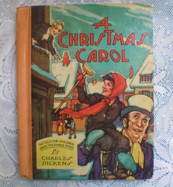 A Christmas Carol Book Charles Dickens Hardback Vintage 1940