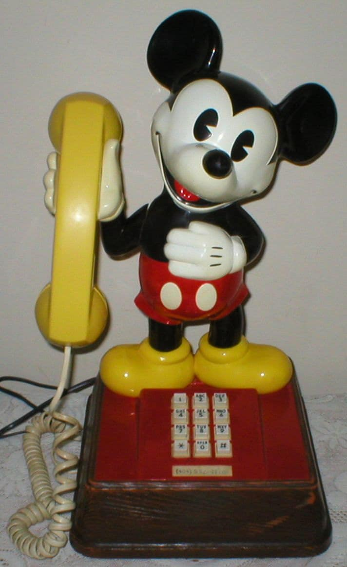 Mickey Mouse Phone Vintage 1976 Walt Disney Productions