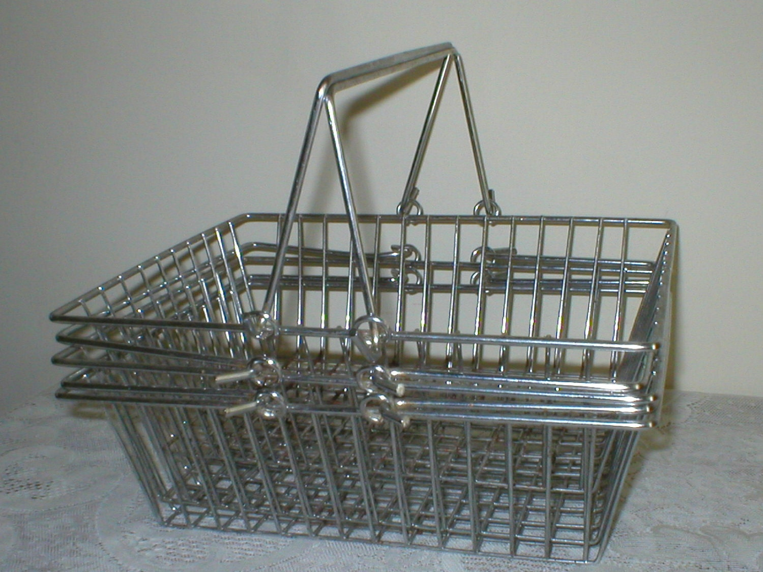 With the addition of handles, wire mesh material handling baskets are safer and easier to move from point A to point B, improving efficiency and safety. View More Info About This Product ↓ Wire Baskets.