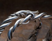 twisted sterling barbed wire with silver tipped barbs larger size