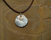 life balance necklace sterling silver and 14k gold