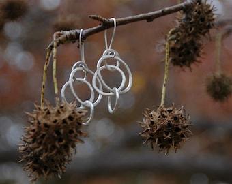 Hoopty Doo Quad Earring - Sterling Silver Dangle
