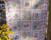 Reserved  Custom Listing for Judy Wagner-Kitty Cucumber Patchwork Crib Size Quilt