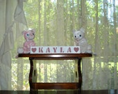 Baby Name Blocks Kayla Rose Pink free shipping in USA choose any 2 symbols included with set baby shower birthday welcome baby holiday gift