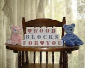 Baby Blocks 5 Letters with 2 symbol blocks Free Shipping in USA baby shower photo shoot birthday nursery match crib bedding holidays
