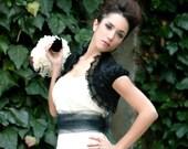 BEAUTIFUL LIFE dupioni silk bridal bolero jacket LINED bridal shrug wedding shrug gothic bolero black bolero jacket victorian bolero