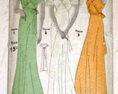 Vintage 1930's Simplicity 7121 Sewing Pattern, Evening Gown, Size 16, 34 Bust, Rare
