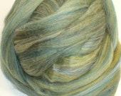 Green Multi Colored Polwarth Combed Top Roving 4 oz.