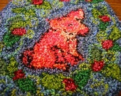Swine and Roses 'Hooked' Dollhouse Rug