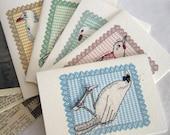 Five Bird Cards
