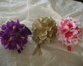 Hibiscus Pomander Ball 6 inch Wedding Flower Decoration Kissing Ball