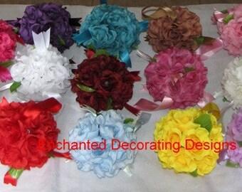 Wedding Pomander Ball 41/2-5 inch Flower Decoration Kissing Ball