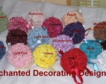 Wedding Kissing balls 5 inch Mini Roses Wedding Flower Decoration
