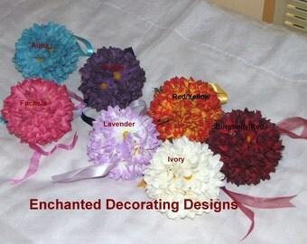 Kissing Ball 5 inch Daisy Wedding Flower Decoration Kissing Ball wedding pew decorations wedding flower balls kissing balls for weddings