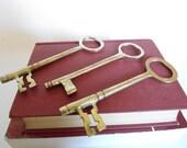 Three Large Metal Keys