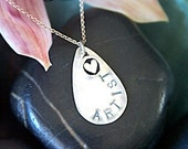 ARTIST-Sterling Silver Hand Stamped Pendant
