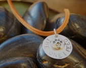 The One I Feed - Sterling Silver Hand Stamped Necklace