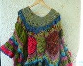 Custom order for Murphy Revised Garden in Bloom Freeform Gypsy Crochet Oversized Poncho