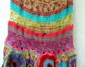 KelluKaru Gypsy Freeform Crochet Wool and Silk Poncho RESERVED