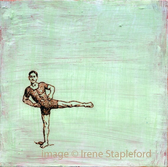Fit - original small painting on panel, one of a kind, acrylic painting, small painting by Irene Stapleford