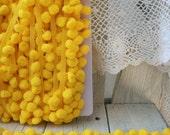 Pom Pom Trim-Lemon Yellow-2 yards-1/2 inch Ball