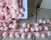 Pom Pom Trim-Light Pink-2 yards-1/2 inch Ball