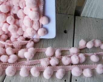 Pom Pom Trim-Light Pink-2 yards-1/2 inch Ball