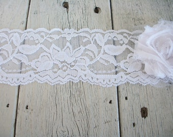 WIDE Stretch Lace WHITE-no. 399-2 inch -5 yards for 7.50