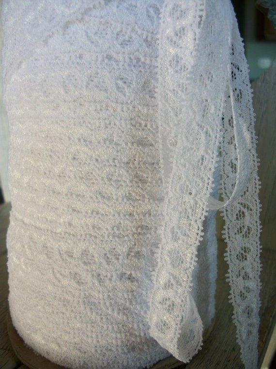 WHITE Stretch Lace-1/2 inch -5 yards for 1.99