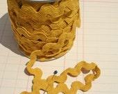 "Mustard Yellow Rick Rack - Cotton Sewing Ric Rac Trim - 11/16"" Wide"