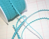 "AQUA Mini Rick Rack - Turquoise Sewing Crafting Ric Rac Trim - 11/64"" Wide - 10 Yards"