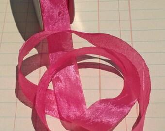 """Magenta Crepe Trim - Pink Crepe Ribbon Like Seam Binding - 3/4"""" - 4 1/2 Yards - LAST OF SPOOL"""