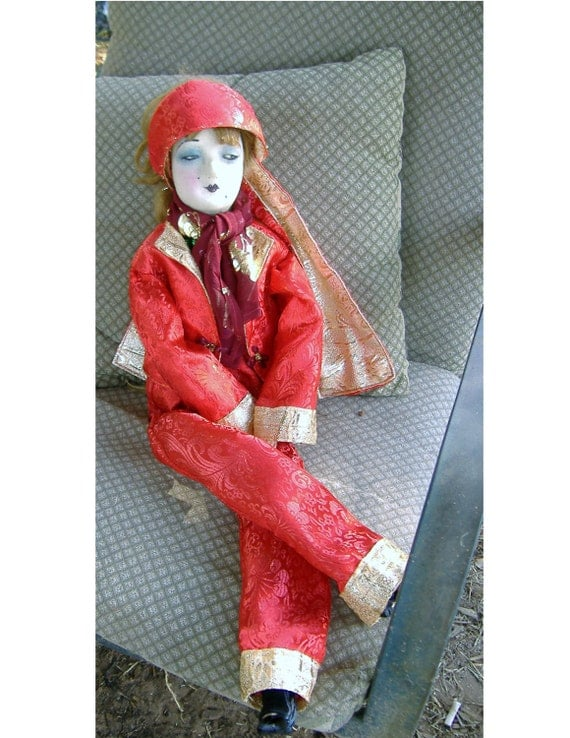 Boudoir Doll Red Lounger Pajamas