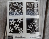 SALE  Brand New Stampin Up MOSTLY FLOWERS rubber stamp 2003