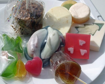 SALE Loads of ugly soap! No-frills soap - bits & bars grab bag - Priority shipping envelope packed full