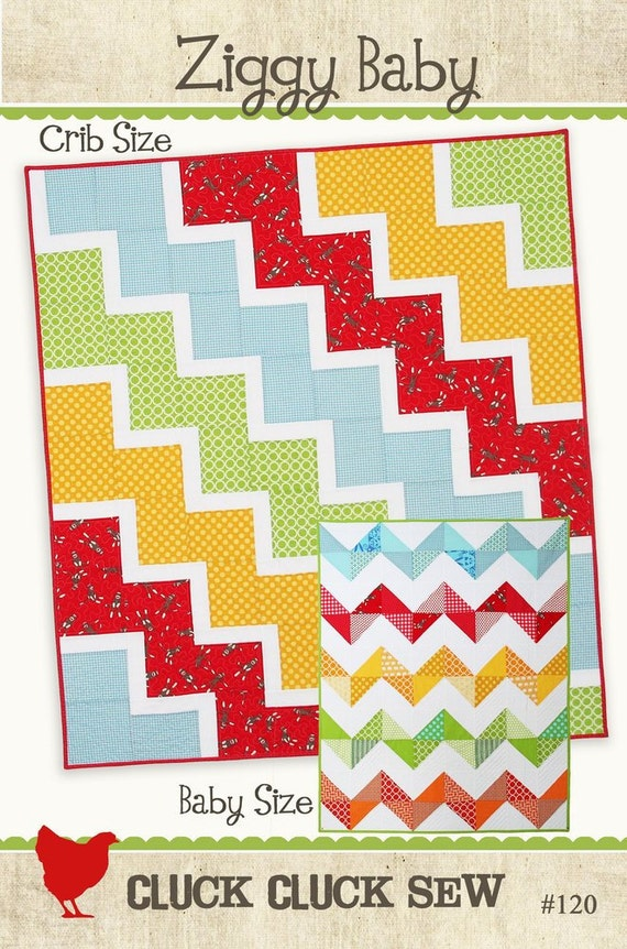 Ziggy Baby Quilt Pattern, PDF emailed