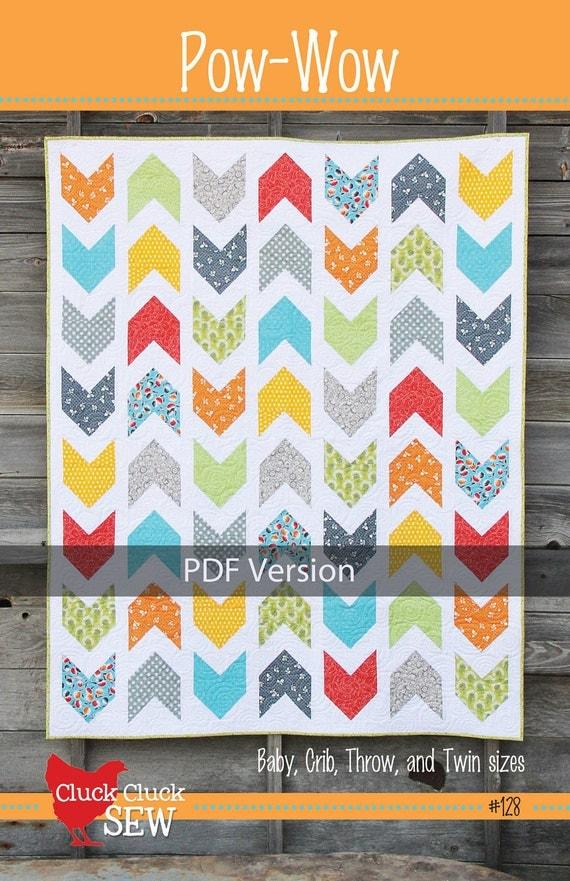 Pow-Wow Quilt Pattern 128, PDF version