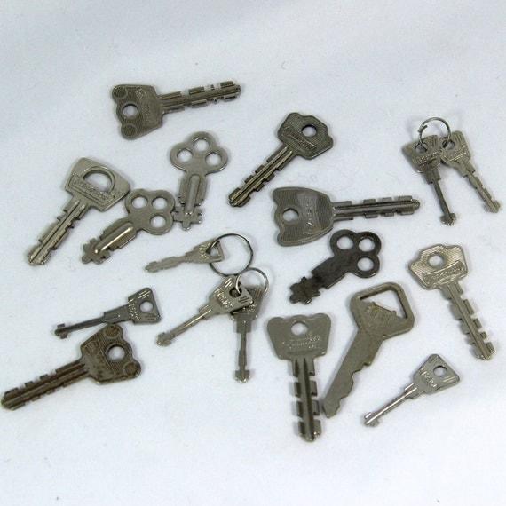 18 Small Keys mostly Padlock Keys