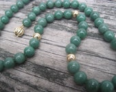 14K Genuine Jade 18 inch Choker Necklace