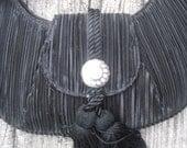 Elegant Black Purse with Tassel and Rhinestones