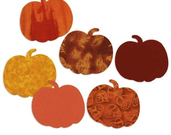 Pumpkin Fusible Fabric Appliques Die Cut Cotton Quilting Sewing Collage Kit