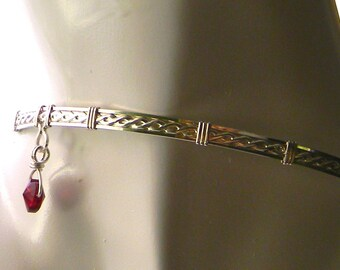 MADE TO ORDER Off Center Love-Sterling Silver Slave Collar